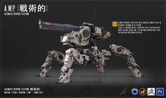 The A.W.P is an automated weapons platform capable of traversing difficult terrain with ease, It has the mobility and durability to enter remote locations inaccessible or inhospitable to regular so...