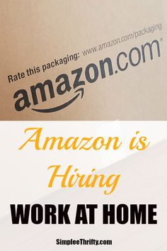 Amazon Work At Home Job Opportunity. Amazon is hiring work at home job opportunity via Amazon's Virtual Contact Center! Amazon is currently hiring for seasonal, part time customer service associate positions.