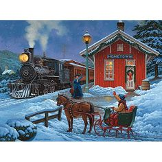 Home For Christmas 1000 Piece Glow Jigsaw Puzzle