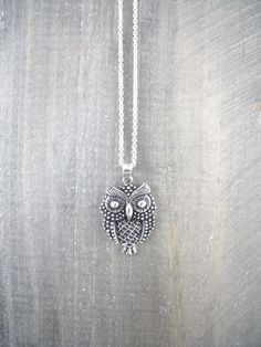 Owl Necklace Owl Necklace, Sterling Silver Jewelry, Jewellery, Animal, Inspired, Inspiration, Biblical Inspiration, Jewels, Jewelry Shop