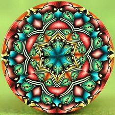 Just purchased this stunning polymer cane....Polymer Clay Kaleidoscope Circle Cane  Grand by ikandiclay, $12.00