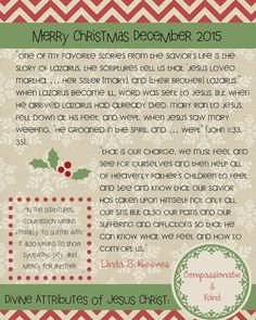 Mimi Lee Printables & More: December 2015 Relief Society Message-Free Printable