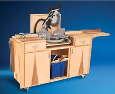 Mobile Miter Saw Stand - The Woodworker's Shop - American Woodworker