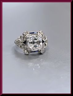 Antique Vintage Art Deco Platinum Diamond Engagement Ring by AntiqueJewelryNyc on Etsy https://www.etsy.com/listing/204954630/antique-vintage-art-deco-platinum