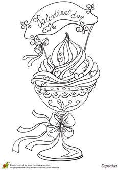 cest un cupcake tout rose spcial saint valentin le coloriage des gourmands pour adult coloringcoloring pagescoloring