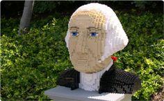George Washington built entirely of LEGO at LEGOLAND California!