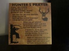 Hunter's Prayer Decorative Tile by CraftyCreationsbyAng on Etsy, $28.00