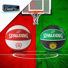 Olympiakos / Panathinaikos Euroleague Spalding basketballs