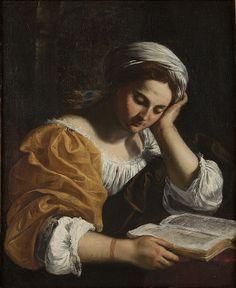 Simone Cantarini - Sibilla leggente