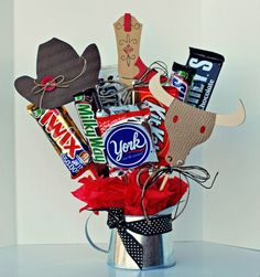 happy trails candy bouquet