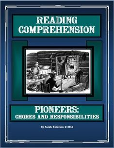 History and Language Arts combined! Contains: two 1-page passages of informational text on Pioneer Chores and Responsibilities; two pages of reading comprehension questions (one for each passage), and teacher's keys. CAN BE USED FOR A QUICK SAMPLE FOR CHARTER SCHOOLS, Independent Reading, Homework or Supplemental Homeschool Worksheet. The passages can be used for CLOSE READING with other non-fiction graphic organizers! 6 pages $1.00 Grades 4-6 and homeschool