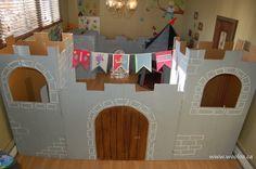 Wooloo | Un château en carton pour des petits chevaliers