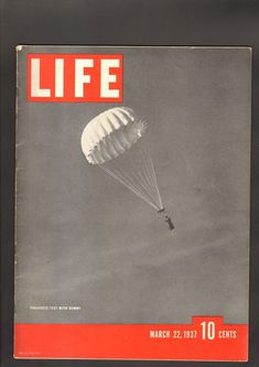 Life Magazine March 22 1937 Parachute with Test Dummy Great Ads Great Ads, Life Magazine, March, Ebay, Mac