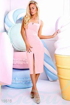 Gepur | Элегантное платье-футляр арт. 16618 Цена от производителя, достоверные описание, отзывы, фото , цвет: , цвет: розовая пудра
