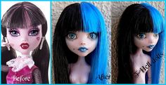 Repaint custom service Monster high/Ever after by DollsThell