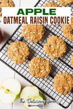 These Apple Oatmeal Raisin Cookies are real treat without all the refined sugar. Soft and full of spices, apples and raisins. A great school snack or perfect for a cookie craving attack! Soft and full of flavour – my son hasen't stopped eating these cookies since I pulled them out of the oven! | The Delicious Spoon @thedeliciousspoon #oatmealraisincookies #falbaking #thanksgivingcookierecipes #fallcookierecipes #cookieswap #bakingparty #thedeliciousspoon Healthy Living Recipes, Healthy Dessert Recipes, Healthy Baking, Clean Eating Recipes, Healthy Snacks, Apple Oatmeal, Oatmeal Raisin Cookies, Apple Recipes, Sweet Recipes