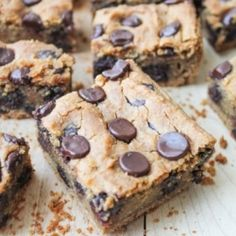 Chocolate Chickpea Cookie Bars - GF HealthyAperture.com