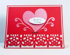 Capadia Designs: Punched Border Valentine Card