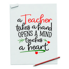 """"""" Teachers takes a hand opens a mind touches a heart"""" Digital File - spoonyprint Resume Templates, Take That, Mindfulness, Teacher, Hands, Digital, Mockup, Printables, Design"""