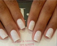 Whiter tips on white polish white nails, white french nails, french toes,. Neutral Nails, Nude Nails, White Nails, Acrylic Nails, White Polish, White French Nails, Glitter French Manicure, French Pedicure, Manicure And Pedicure