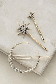 I adore this space inspired hair jewelry set barette and bobby pin Stellar Hair Set