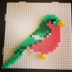 Bird hama beads by sarawibbsdesign Perler Bead Designs, Perler Bead Templates, Hama Beads Design, Diy Perler Beads, Perler Bead Art, Melty Bead Patterns, Pearler Bead Patterns, Perler Patterns, Beading Patterns