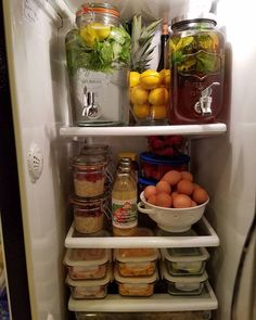 Look at this clean food, organized fridge! From Cleanfoodcrush blog.