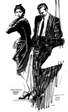 Casino Royale: 007 - James Bond and Vesper Lynd by Bill Sienkiewicz *