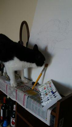 Gato pintor