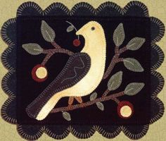Simple and lovely wool appliqué pattern.