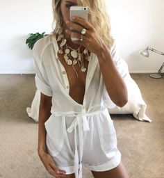 Fresh beach boho styling in the Kala Playsuit worn by @lydianna - available now at #SaboSkirt.com