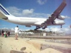 Princess Juliana International Airport in St. Maarten... just another reason I want to go there!