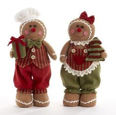 "15"" red standing gingerbread doll Christimas Plush Home Decorative Gift 5222-6"