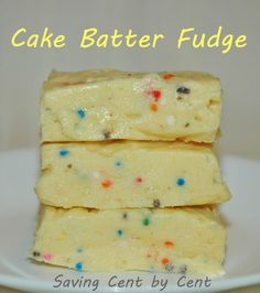 Cake batter fudge. ive made this before!!!