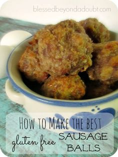 Make these gluten free sausage balls that the whole family will love. It's not your typical sausage ball recipe. Creole Recipes, Gf Recipes, Gluten Free Recipes, Low Carb Recipes, Brunch Recipes, Breakfast Recipes, Dinner Recipes, Sausage Appetizers, Yummy Appetizers