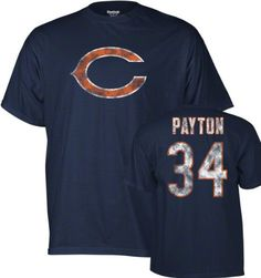Chicago Bears Walter Payton Reebok Throwback Distressed TEAM COLOR T Shirt XXL -- Check this awesome product by going to the link at the image.
