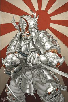 Just a piece done for fun. A depiction of what Ultimate Silver Samurai for Marvel might look like. Pencils by me and colors by the amazing Brian Reber! Marvel Comic Character, Comic Book Characters, Marvel Characters, Comic Books Art, Comic Art, Fictional Characters, Silver Samurai, Arte Dope, Samurai Artwork