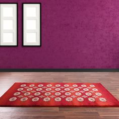 Made with a Polypropylene pile which benefits from being soft to touch, durable, easy to clean and stain resistant. Red Rugs, Color Splash, Rug Making, Traditional Design, Floral Rug, Modern Floral Design, Color Shades, Floral Design, Contemporary Rug