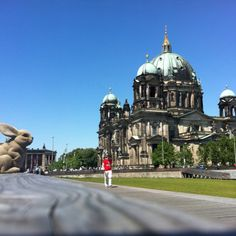 The stunning Dome of Berlin - and many thanks to whoever left the toy bunny on that bench!  (C) Elke Autenrieth