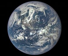 Earth as seen by the Deep Space Climate Observatory (Dscovr), orbiting a million miles from Earth.