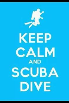 Keep calm and scuba...