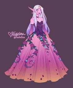 Ball Gown Faeb by Faebelina on DeviantArt Fantasy Character Design, Character Design Inspiration, Character Art, Pretty Art, Cute Art, Evvi Art, Gown Drawing, Manga Drawing, Elfa