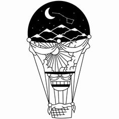 Restoration of the old picture  #design  #illustration   #blackwork  #tattoo  #tattoodesign  #blacktattoo  #balloon  #airballoon  #ink