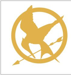 hmmm I know a guy who can print us some of these..haha...Hunger Games Mocking Jay Sticker Decal Metallic Gold - Mockingjay $3.97