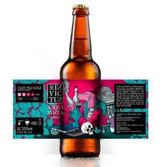 INVICTUS Cerveza Artesanal on Behance Food Packaging Design, Beverage Packaging, Bottle Packaging, Packaging Design Inspiration, Coffee Packaging, Craft Beer Labels, Wine Labels, Beer Label Design, Spiritus