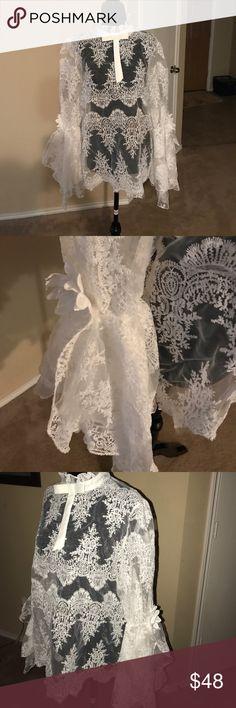 Beautiful cream sexy lace blouse Beautiful cream sexy lace  blouse Tops Blouses