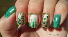 Glittery Fingers & Sparkling Toes: St. Patrick's Day Mani St Patricks Day, Fingers, Hair Beauty, Sparkle, Turquoise, Nails, Atlanta, Posts, Finger Nails