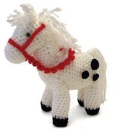 Crochet Horse, Crochet Animals, Diy Crochet, Crochet Dolls, Crochet Projects, Dinosaur Stuffed Animal, Teddy Bear, Christmas Ornaments, Knitting