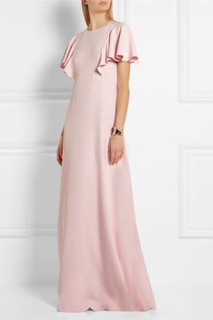 Pastel-pink stretch-crepe Concealed hook and zip fastening at back  97% viscose, 3% elastane; internal trim: 50% cotton, 50% viscose; lining: 100% silk  Dry clean Made in Italy