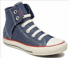Baskets enfant Converse Chuck Taylor All Star Easy Slip Denim Hi K - 31,49 € livré #lemoinscher